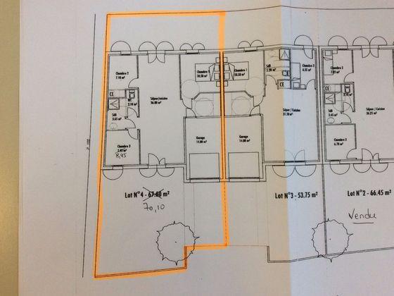 Vente maison 4 pièces 70,1 m2
