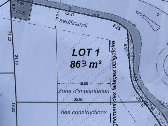 Vente terrain 863 m2