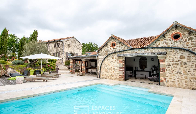 Maison avec piscine et terrasse Mauléon