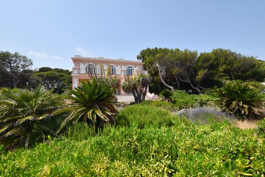 Seaside property and garden