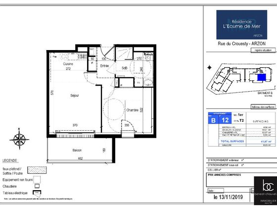Vente appartement 2 pièces 42,41 m2