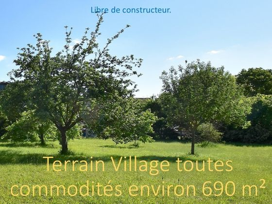 Vente terrain 690 m2