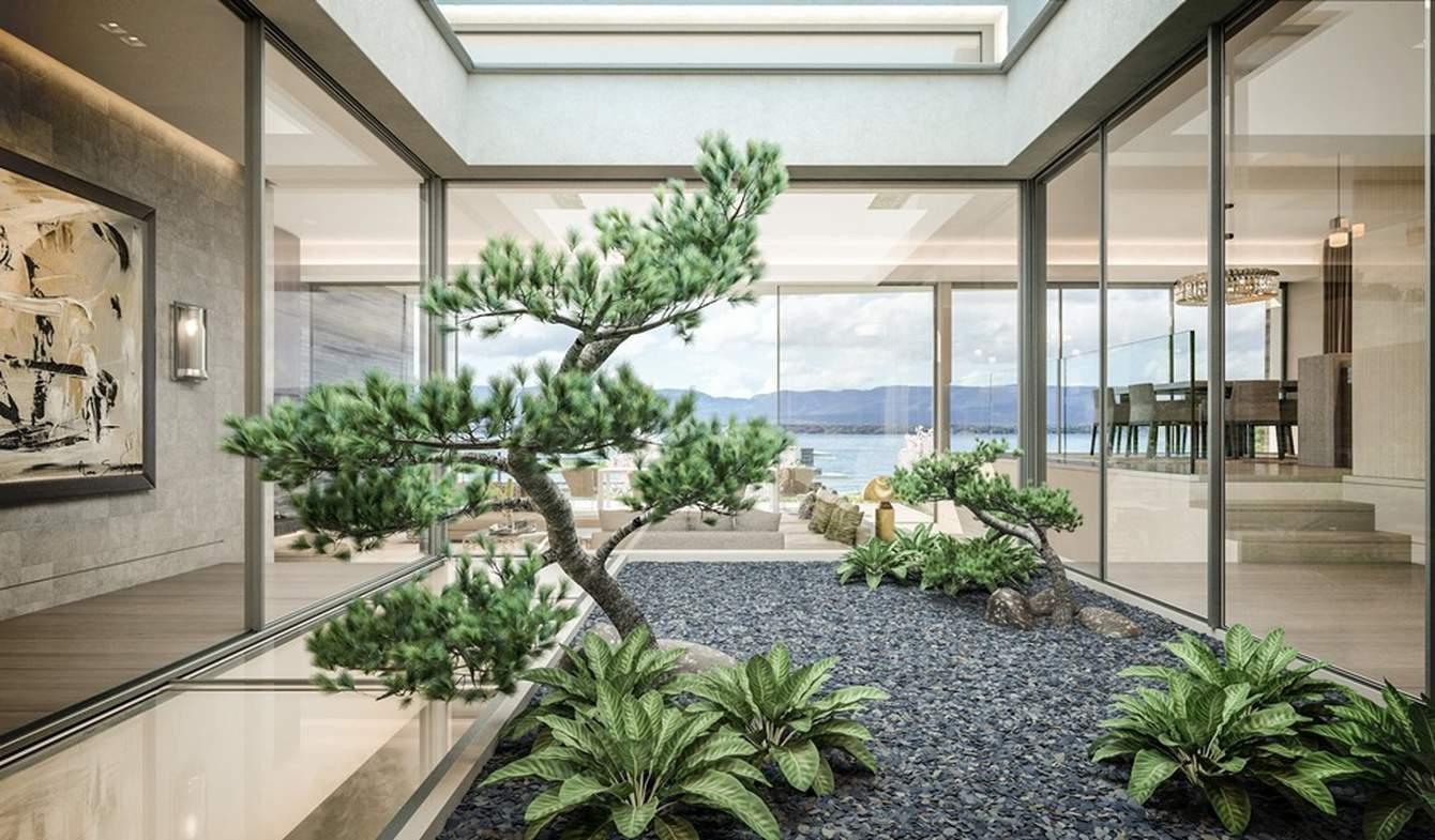 Villa avec piscine et jardin Anières