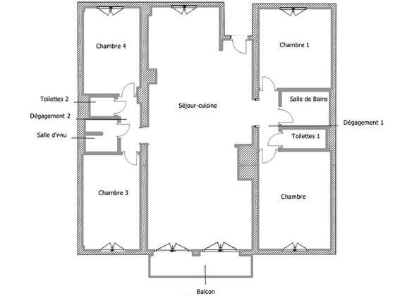 Location appartement 5 pièces 102,42 m2