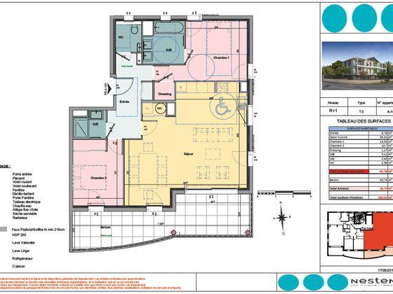 Vente appartement 3 pièces 82,78 m2