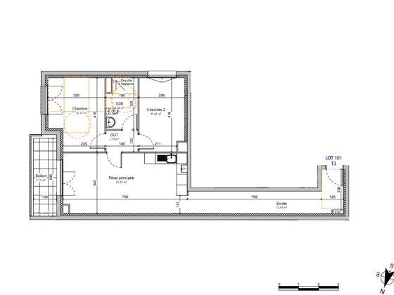 Vente appartement 3 pièces 65,79 m2