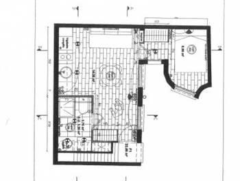 Studio meublé 23,01 m2