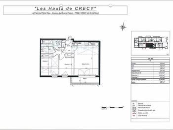 Appartement 3 pièces 57,54 m2