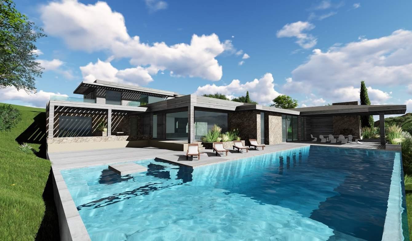 Propriété avec piscine en bord de mer Bonifacio