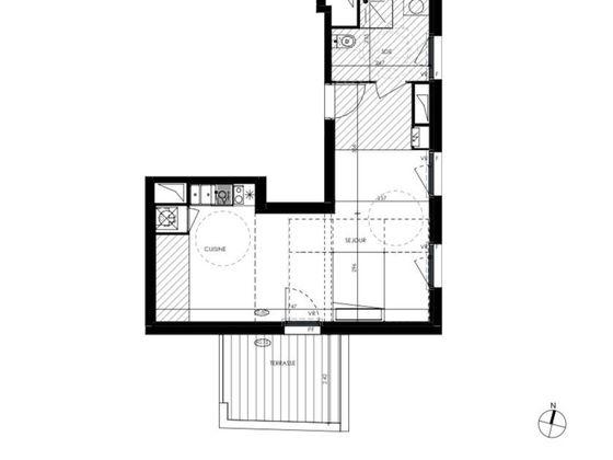 Vente studio 37 m2