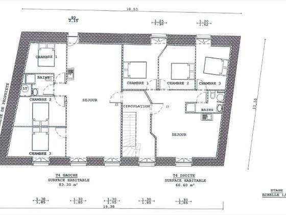 Vente maison 21 pièces 498 m2