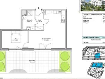 Appartement 2 pièces 47,5 m2