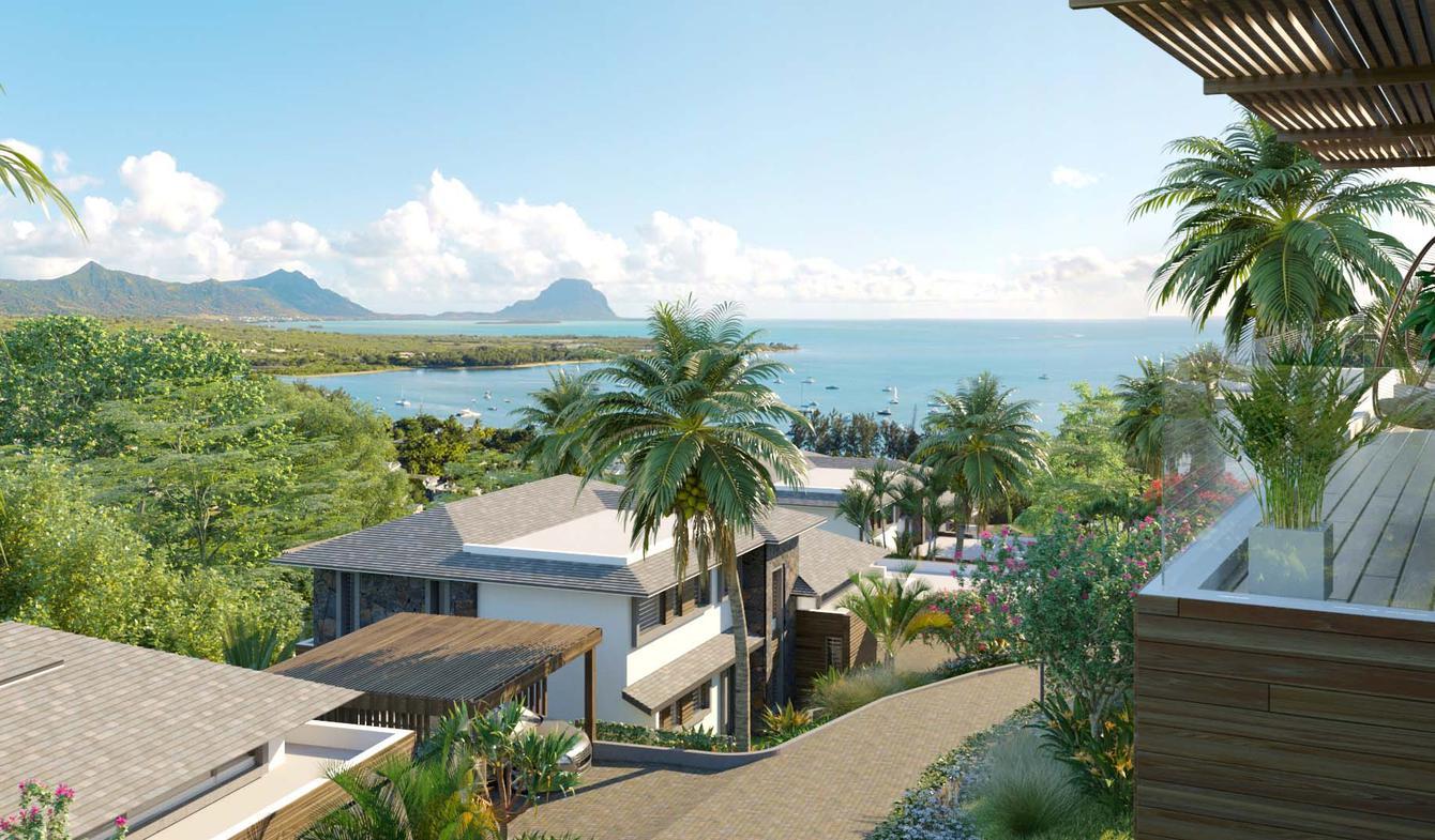 Villa avec piscine en bord de mer Rivière Noire