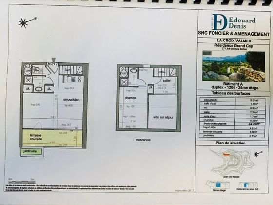Vente duplex 1 pièce 32 m2