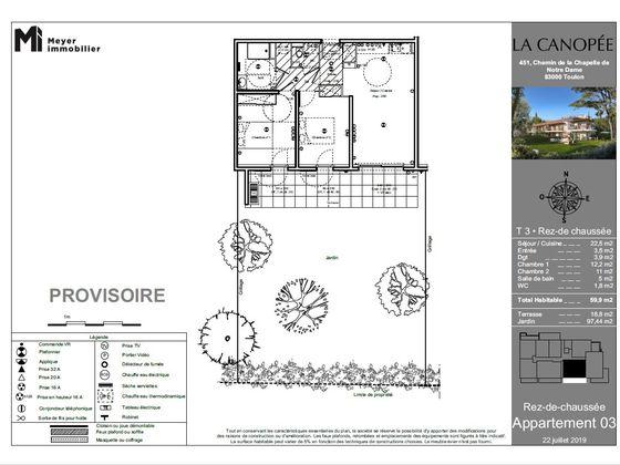 Vente appartement 3 pièces 59,9 m2