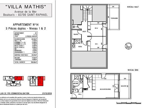 Vente appartement 3 pièces 78,85 m2