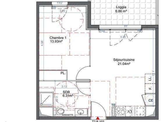 Vente appartement 2 pièces 41,28 m2