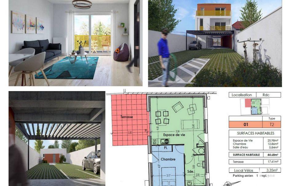 Vente appartement 2 pièces 45 m² à Vertou (44120), 250 000 €