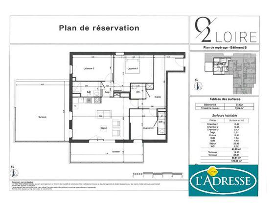 Vente appartement 4 pièces 81,55 m2