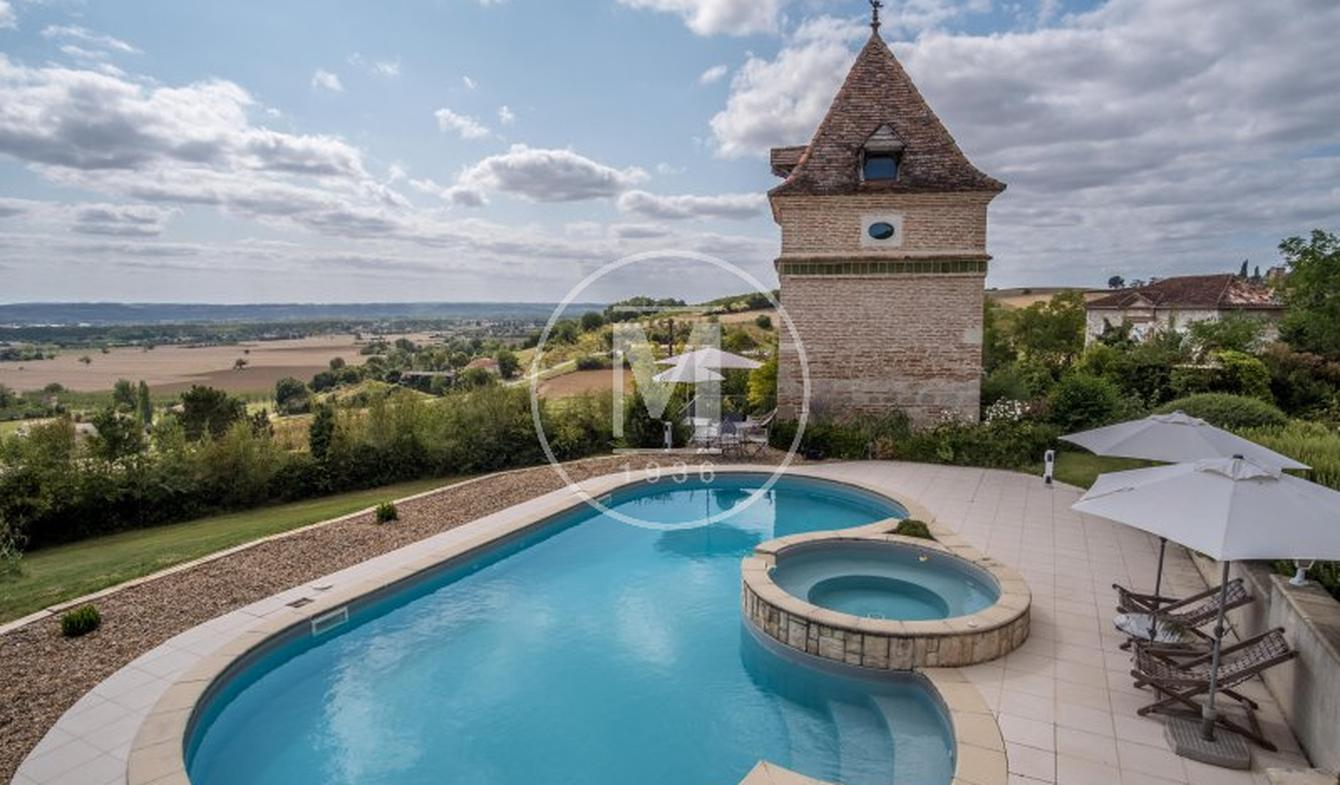 House with pool and terrace Saint-Vincent-Lespinasse