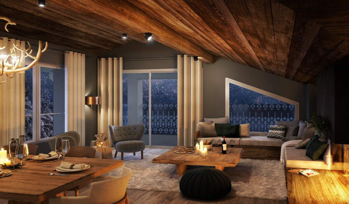 Apartment with terrace and pool Courchevel
