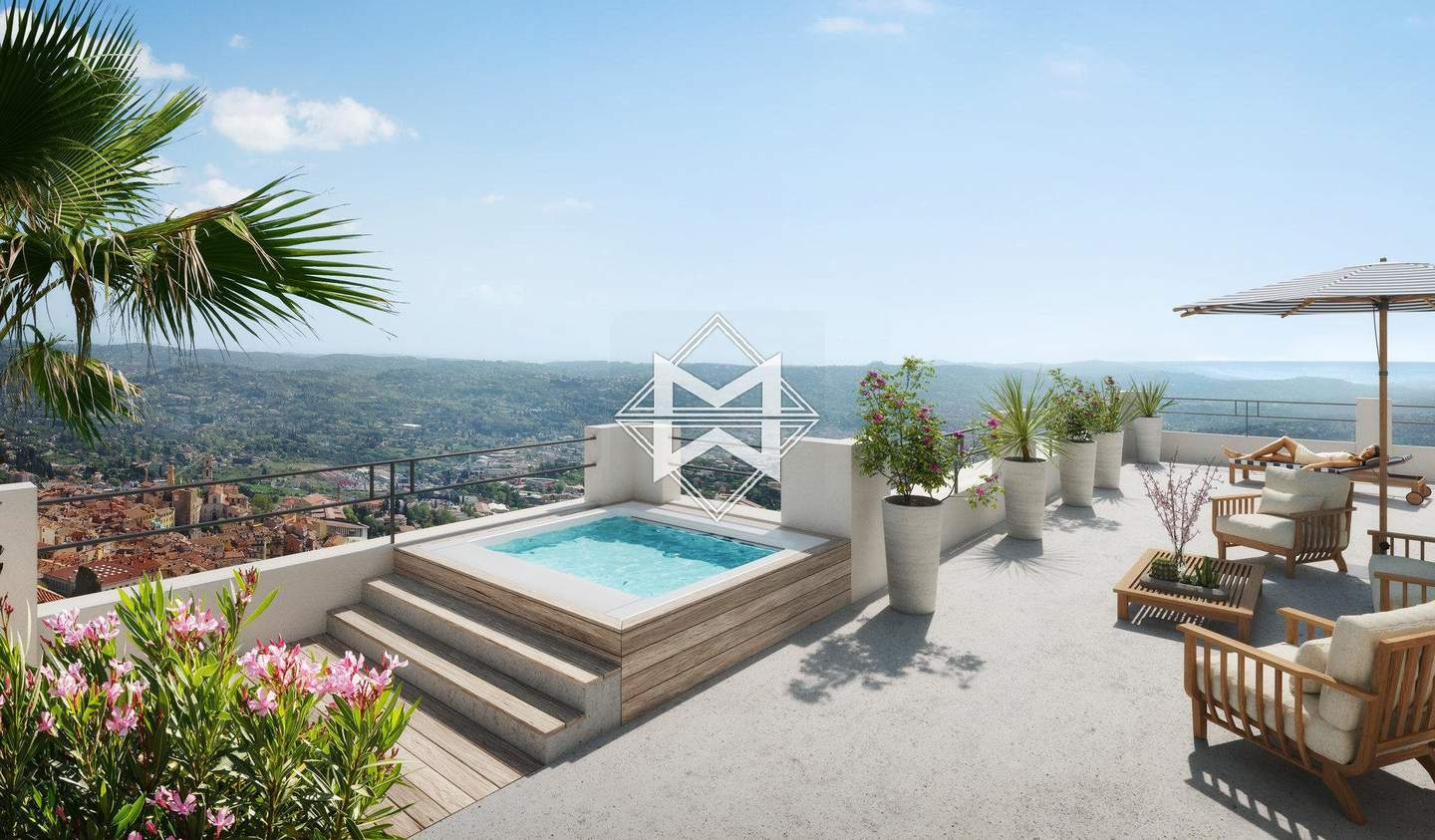 Apartment with terrace and pool Grasse