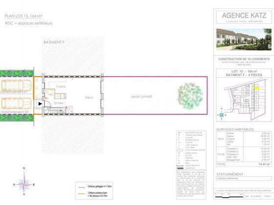 Vente maison 4 pièces 74,5 m2