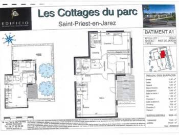 Appartement 3 pièces 87,55 m2