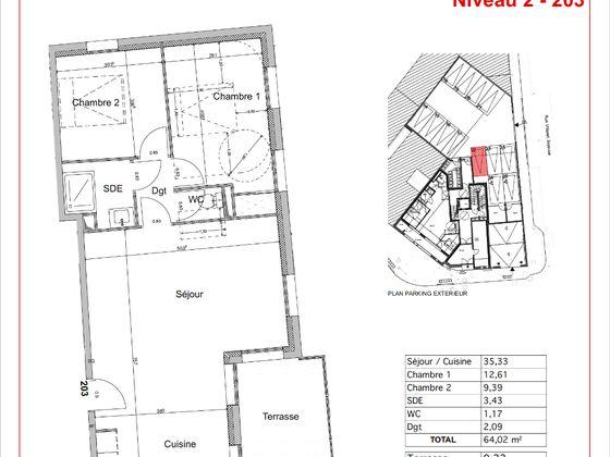 Vente appartement 3 pièces 73,24 m2