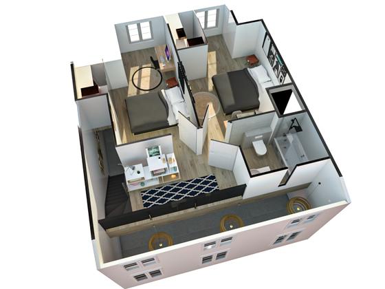 Vente duplex 3 pièces 68,55 m2