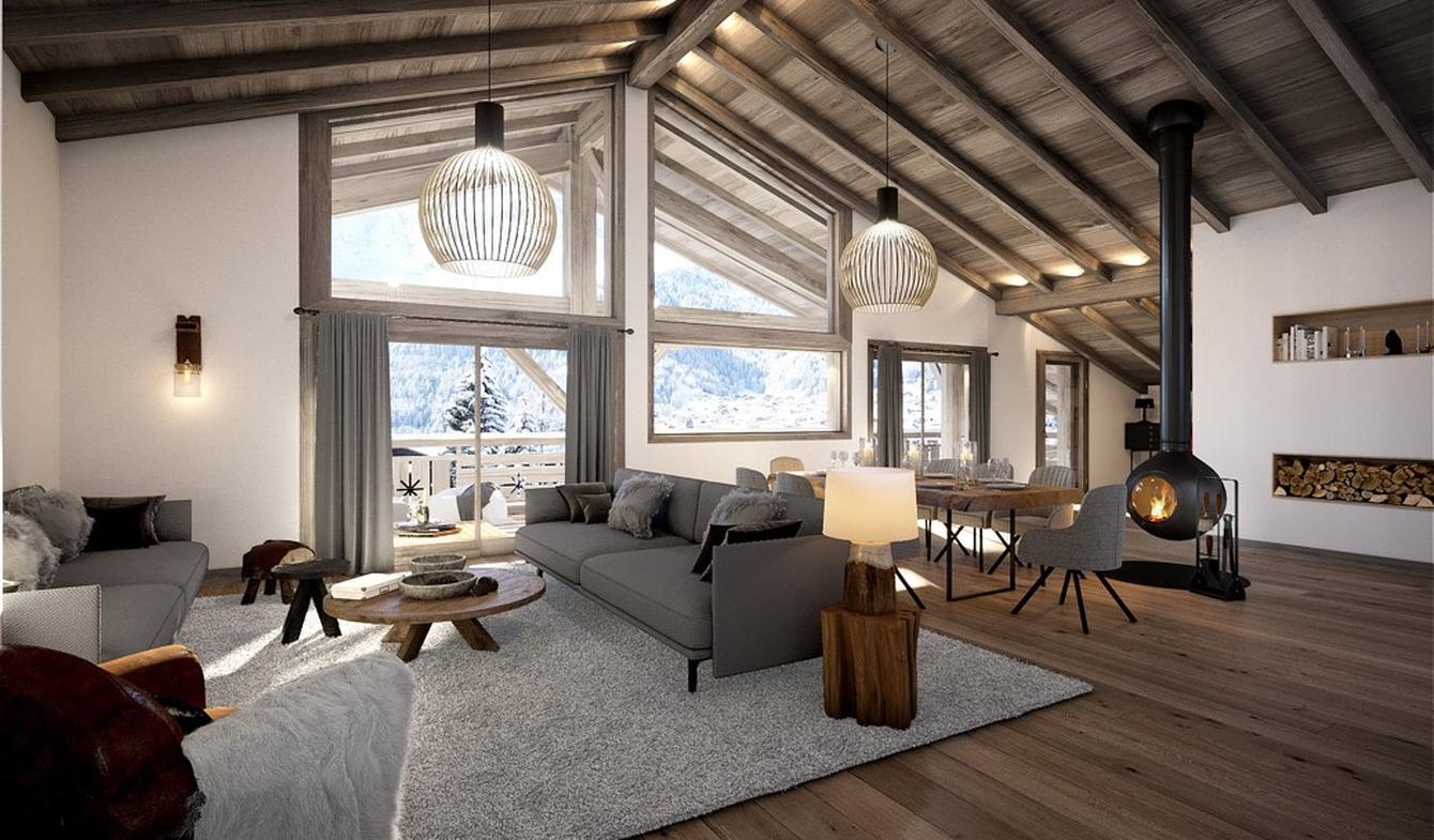 Apartment with terrace Chatel