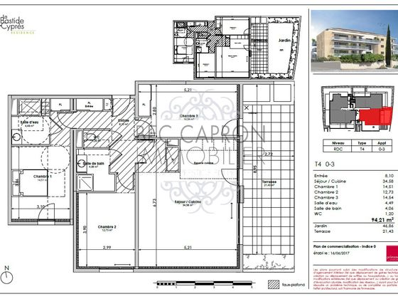 Vente appartement 4 pièces 94,21 m2