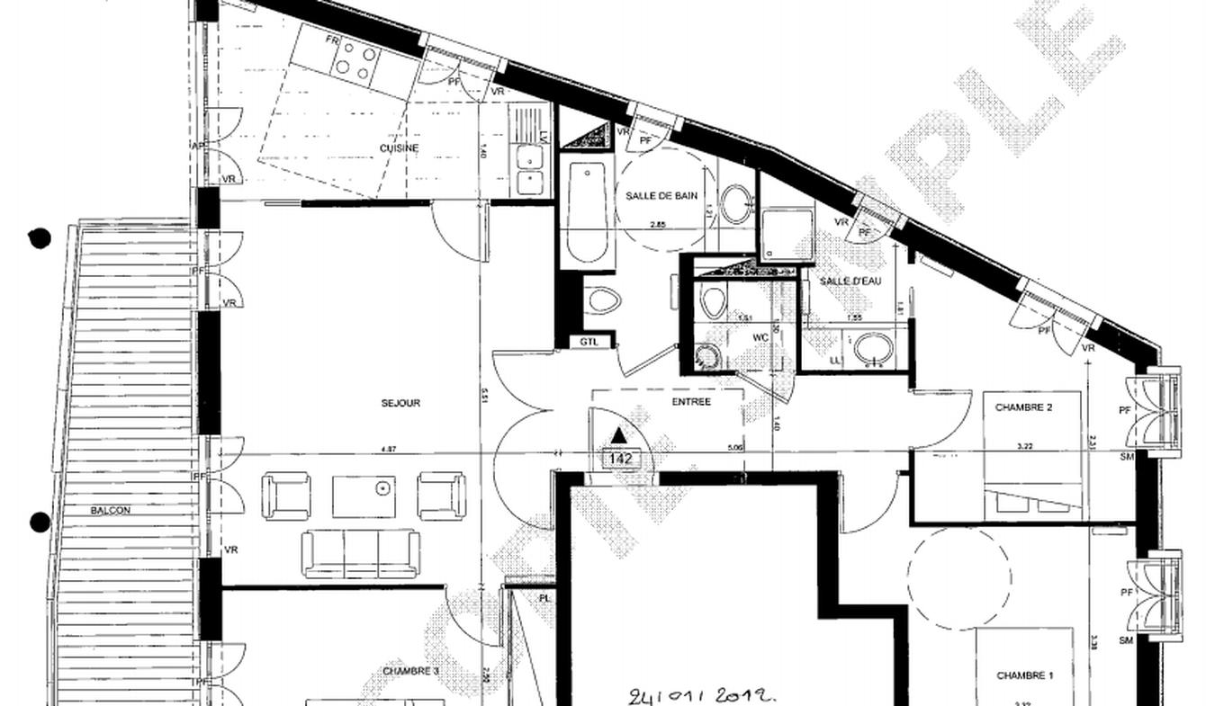Apartment with terrace Paris 15th