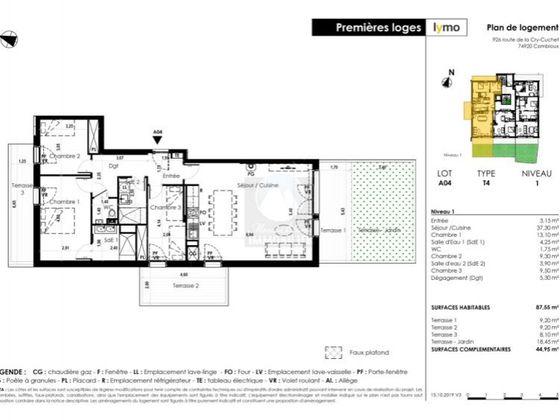 Vente appartement 4 pièces 87,75 m2