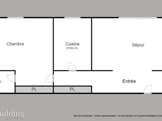 Vente appartement 2 pièces 49,4 m2