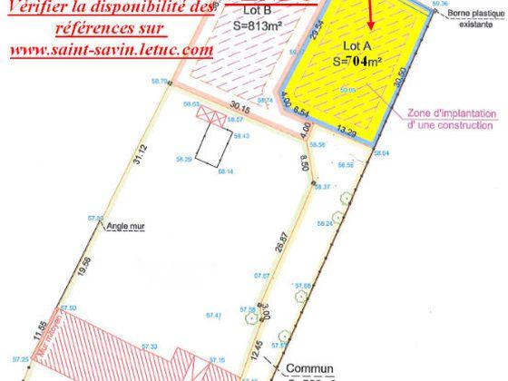 Vente terrain 1246 m2