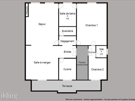 vente Appartement 4 pièces 95 m2 Paris 16ème