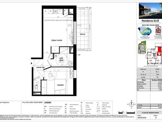Vente appartement 2 pièces 41,17 m2