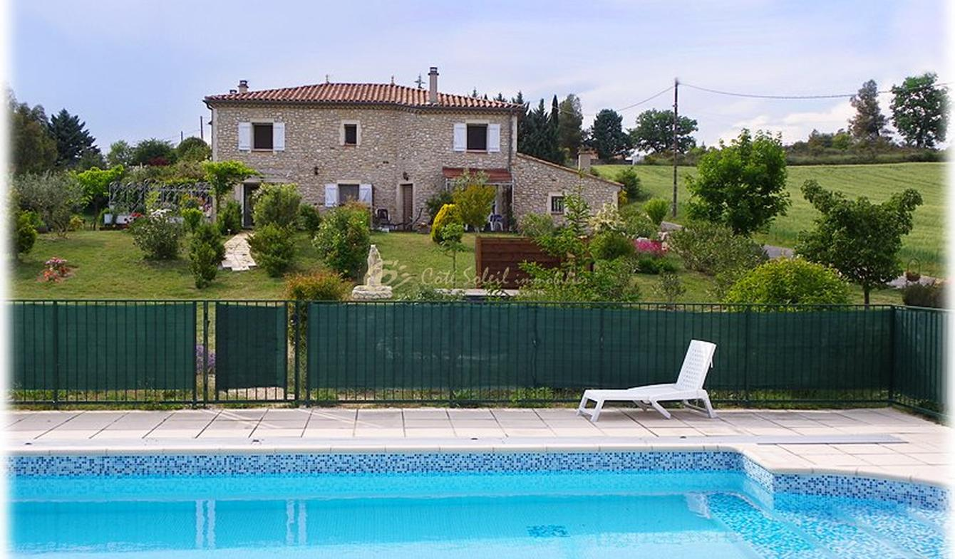 House with pool and terrace Saint-Ambroix