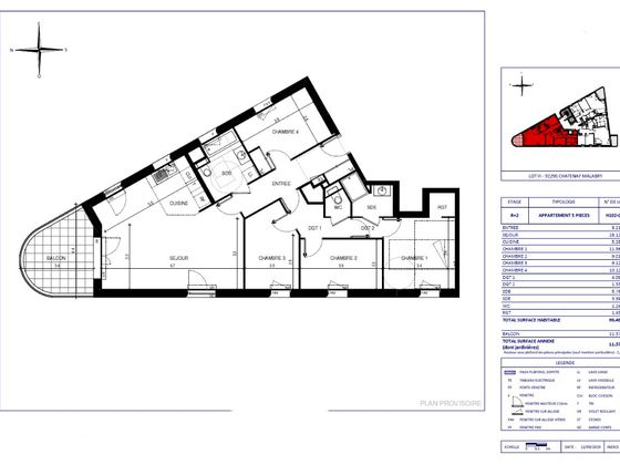 Vente appartement 5 pièces 98,46 m2
