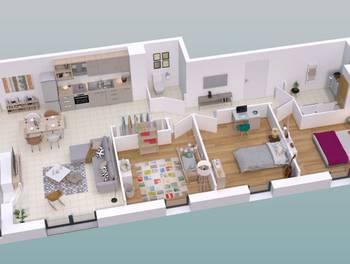 Appartement 4 pièces 82,92 m2