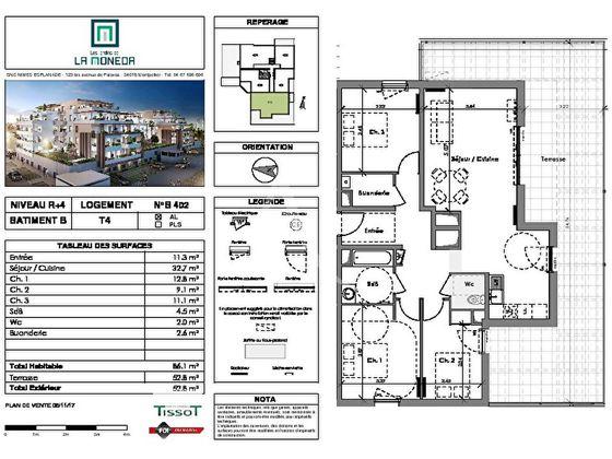 Vente appartement 4 pièces 86,1 m2