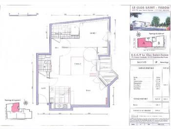 Appartement 3 pièces 57,29 m2