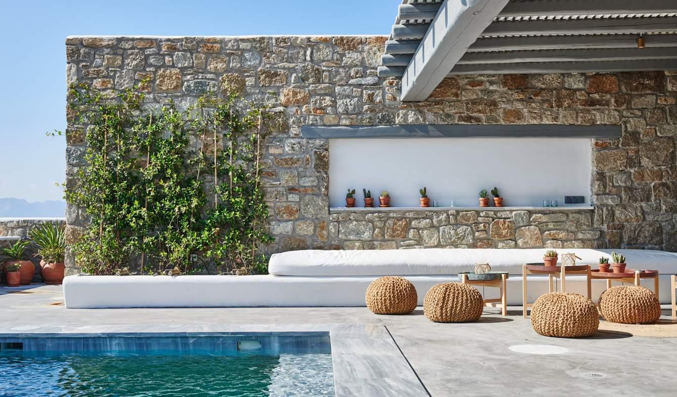 Appartement contemporain avec terrasse et piscine Mikonos