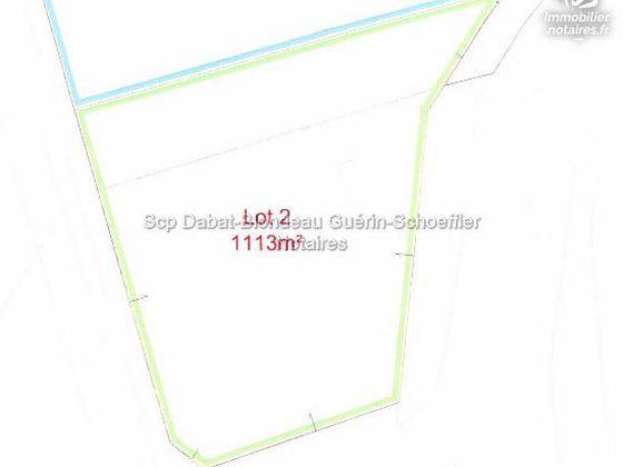 Vente terrain à bâtir 1113 m2
