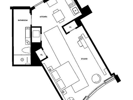 Vente studio 55 m2