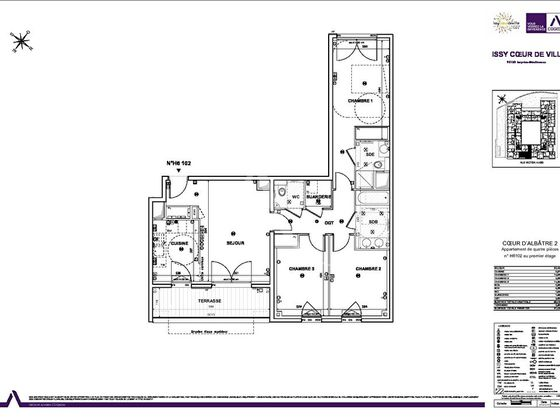 Vente appartement 4 pièces 82,58 m2