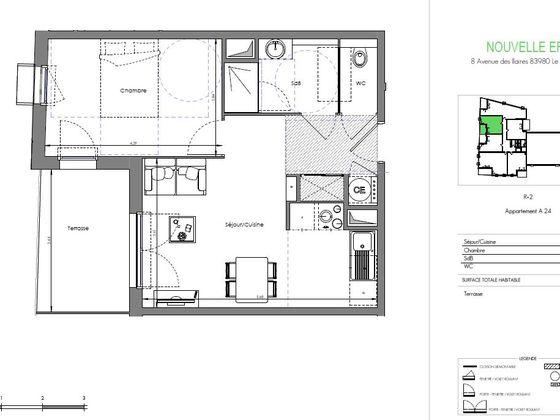 Vente appartement 2 pièces 41,08 m2
