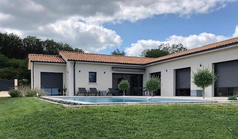 Maison contemporaine avec piscine et jardin Marcillac-Saint-Quentin