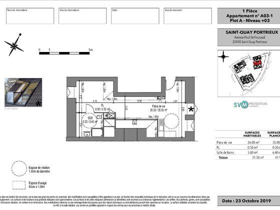 Vente studio 31,5 m2